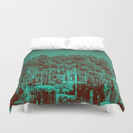 Minty Green Forest Duvet Cover