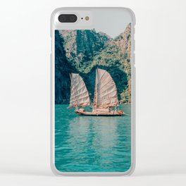 Junk on Halong Bay, Vietnam Clear iPhone Case
