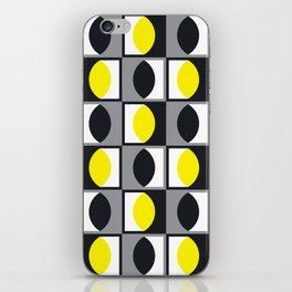 Geometric Pattern 216 (yellow gray curves) iPhone Skin