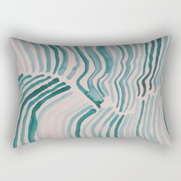 Trippy Turquoise Waves Rectangular Pillow