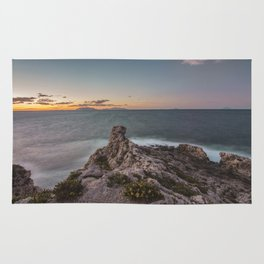 Long exposure seascape Rug