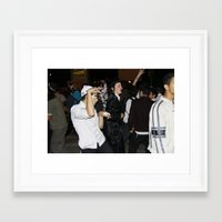 jewish Framed Art Prints featuring FUNNY DANCING JEWISH BOY  by DidiBNK