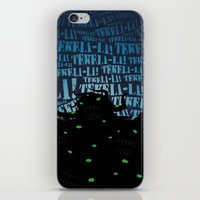 lovecraft iPhone & iPod Skins featuring Lovecraft Shoggoth 2 by Steve Santiago