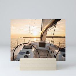 Sailing into the sunset- Nautical Photography- Sailors dream Mini Art Print