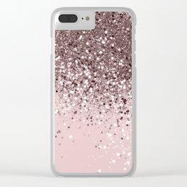 Cali Summer Vibes Lady Glitter #13 #shiny #decor #art #society6 Clear iPhone Case