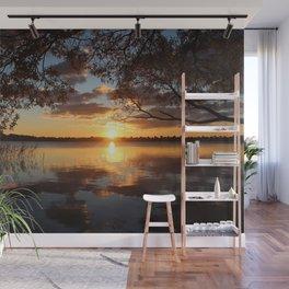 Sunset Lakes Wall Mural