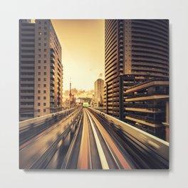 on the tokyo monorail Metal Print