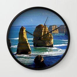 Limestone Rock Stacks - Twelve Apostles Wall Clock