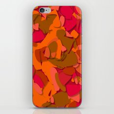red camouflage iPhone & iPod Skin