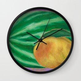 Watermelon Mango Wall Clock
