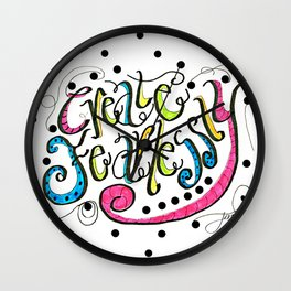 Create Fearlessly Wall Clock