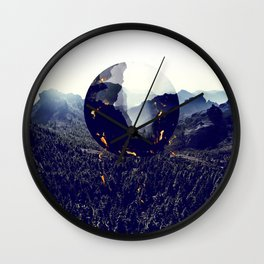 Falling forest Wall Clock