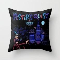 Fester's Uncle Quest Throw Pillow