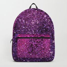 Purple Pink Ombre Lady Glitter #1 #shiny #decor #art #society6 Backpack