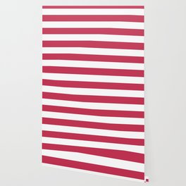 Dingy Dungeon - solid color - white stripes pattern Wallpaper