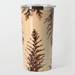 Botanical Pattern 1 (brown) Travel Mug