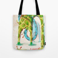 giraffes Tote Bags featuring Giraffes by Orenso