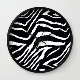 ZEBRA ANIMAL PRINT BLACK AND WHITE PATTERN Wall Clock