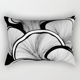 Mushrooms in black and white Rectangular Pillow