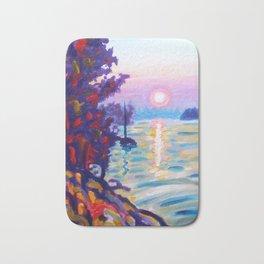 Gold Island Sunset Bath Mat