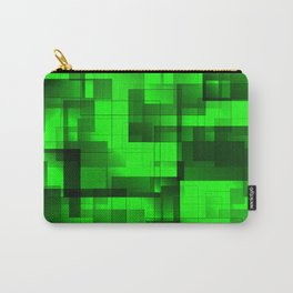 Mosaic of green volumetric squares with a shadow. Carry-All Pouch