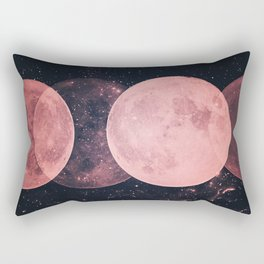 Pink Moon Phases Rectangular Pillow