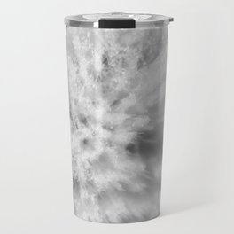 Sign of Winter a sow thistle weed covered in frost Travel Mug