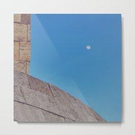 Angled Moon Metal Print