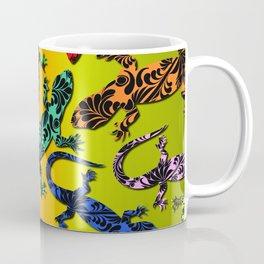 Gecko Deco Pattern Coffee Mug