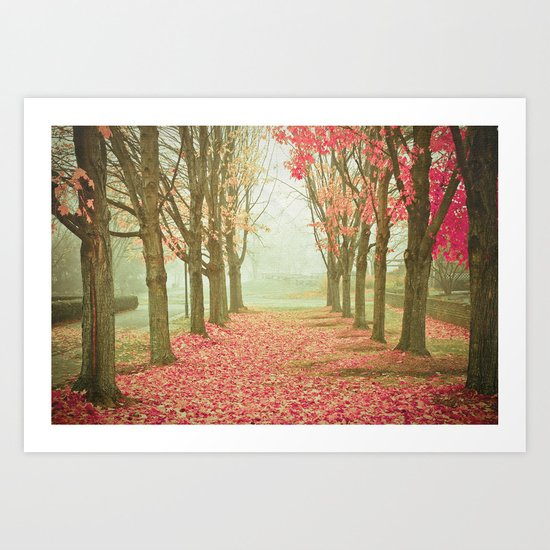 Scarlet Autumn Art Print