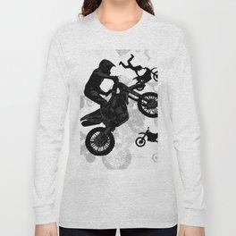 High Flying Stuntmen - Motocross Riders Long Sleeve T-shirt