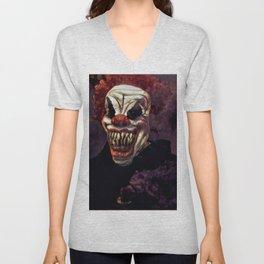 Scary Clown Purple Smoke Unisex V-Neck
