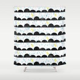 Happy Cloud Shower Curtain