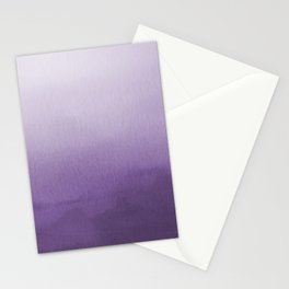 Inspired by Pantone Chive Blossom Purple 18-3634 Watercolor Abstract Art Stationery Cards