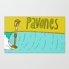 hang 10 dude pavones land of the lefts Canvas Print