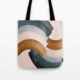 Brushstroke rainbows Tote Bag
