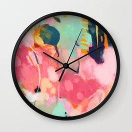 spring moon earth garden Wall Clock