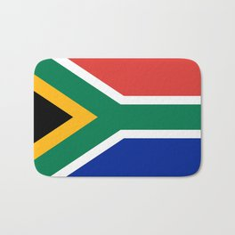 Flag of South Africa, Authentic color & scale Bath Mat