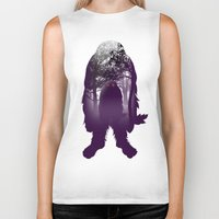bigfoot Biker Tanks featuring Bigfoot Forest by Paz Art