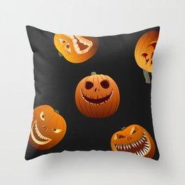 Scary pumpkins Throw Pillow
