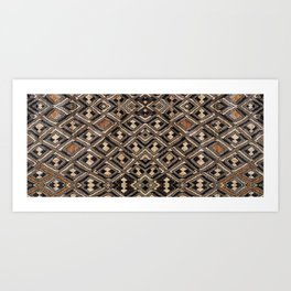 Kuba Cloth Design #2 Art Print