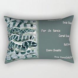 7 Snakes Rectangular Pillow