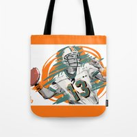 nfl Tote Bags featuring NFL Legends: Dan Marino - Miami Dolphins by Akyanyme