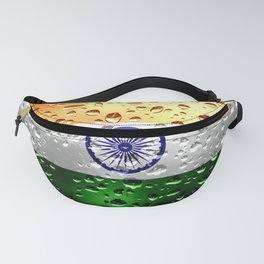Flag of India - Raindrops Fanny Pack