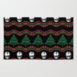 skeletal ugly christmas sweater Rug