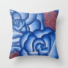 Blue Roses Throw Pillow