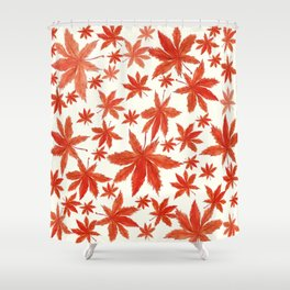 red maple leaves pattern Shower Curtain