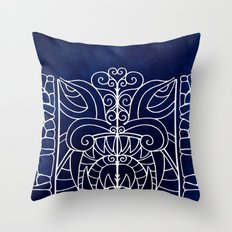 Threshold Guardian (blue) Throw Pillow