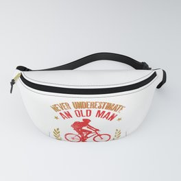 Mens Never Underestimate An Old Man With A Mountain Bike product Fanny Pack