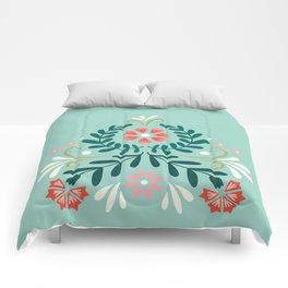 Floral Folk Pattern Comforters